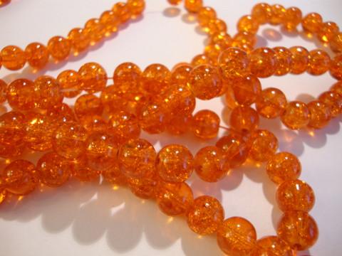 Särölasihelmi oranssi pyöreä 8 mm (30/pss)