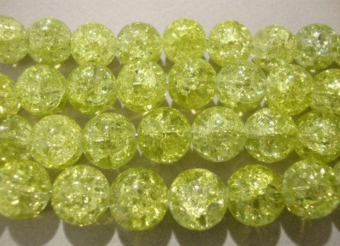 Särölasihelmi vaalea limen vihreä pyöreä 10 mm (20/pss)