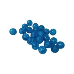 Särölasihelmi (tsekkiläinen läpivärjätty) turkoosi pyöreä 10 mm (20 kpl/pss)