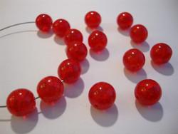Särölasihelmi (läpivärjätty) rubiinin punainen pyöreä 10 mm (20/pss)