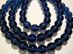 Tsekkiläinen lasihelmi Montanan sininen pyöreä 8 mm (20 kpl/pss)