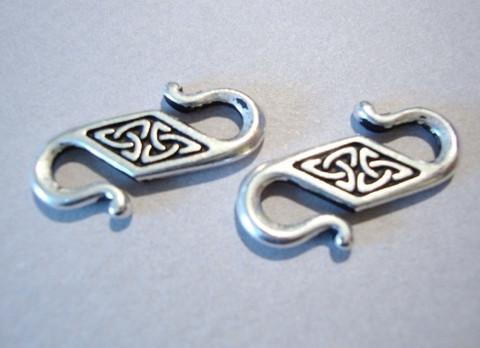 TierraCast S-lukko hopeoitu Celtic 22 x 8 mm