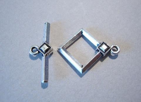 TierraCast Salpalukko hopeoitu Art Deco 15 mm/salpa 15 mm
