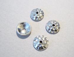 TierraCast Helmihattu hopeoitu Taottu 8 mm (2/pss)