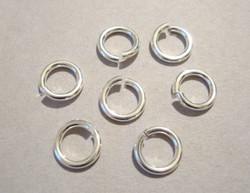 TierraCast Välirengas 7 x 1,2 mm hopeoitu avattava, 16 gauge = erittäin vahva rengas) 20 kpl/pss
