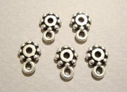 TierraCast Metallihelmi/välihelmi Heishi hopeoitu 7 mm, lenkki riipusta varten (2/pss)