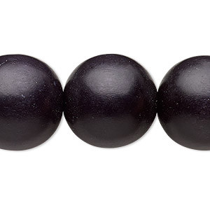 Puuhelmi musta pyöreä 20 mm (10 kpl/pss)