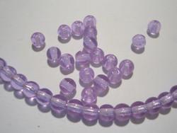 Tsekkiläinen lasihelmi kirkas lila/violetti pyöreä 4 mm (50/pss)