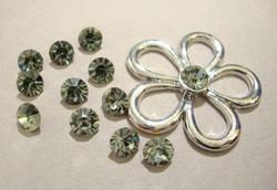 Strassi Black Diamond (teräksen harmaa) halkaisija 5,5 mm (2/pss)