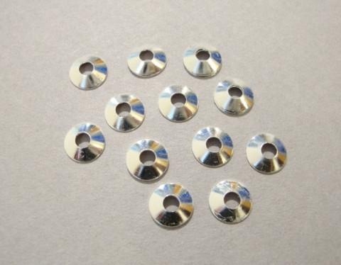 Helmihattu kirkas sileä hopeoitu 7 mm (20 kpl/pss)