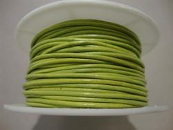 Nahkanauha oliivinvihreä pyöreä 1,5 mm (myyntierä 1 m)
