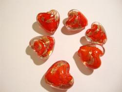 Lamppuhelmi punainen-kupari / folio sydän 20 mm