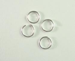 Välirengas 6 x 0,8 mm hopeoitu avattava (100 kpl/pss)