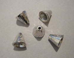 TierraCast Helmihattu (kalotti) hopeoitu Taottu 8,5 x 8 mm (2/pss)