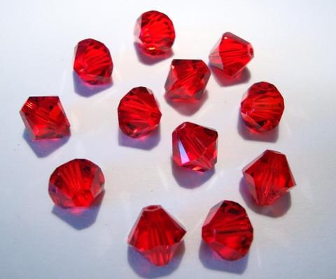 Swarovski kristallihelmi punainen Light Siam 8 mm (4/pss)