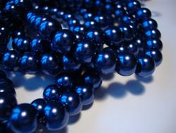 Helmiäislasihelmi tumman sininen 4 mm (50 kpl/pss)
