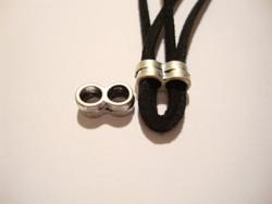 Metallihelmi nauhalle (divider) 2 reikää antiikkihopeanvärinen 12 x 6 mm (4 kpl/pss)