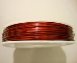 Koruvaijeri 3-säikeinen tummanpunainen 0,45 mm (5 m/pss)