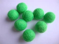Huovutettu helmi kevään vihreä n. 23 mm (5 kpl/pss)