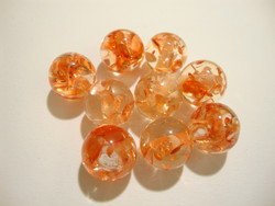 Akryylihelmi Ice Flake oranssi 12 mm (2 kpl/pss)