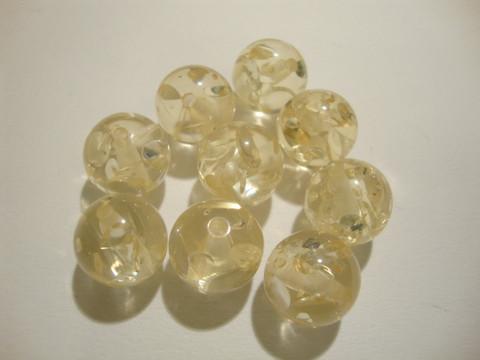 Akryylihelmi Ice Flake vaalea keltainen 12 mm (2 kpl/pss)