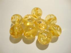Akryylihelmi Ice Flake auringonkukan keltainen 12 mm (2 kpl/pss)
