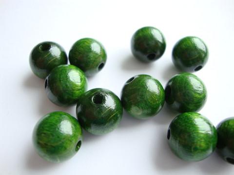 Rayher Puuhelmi tumman vihreä pyöreä 12 mm (32 kpl/pss)