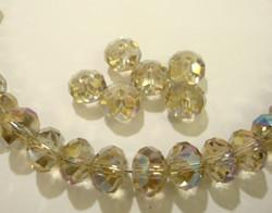 Kristallihelmi Champagne rondelli 8 x 6 mm  (10/pss)