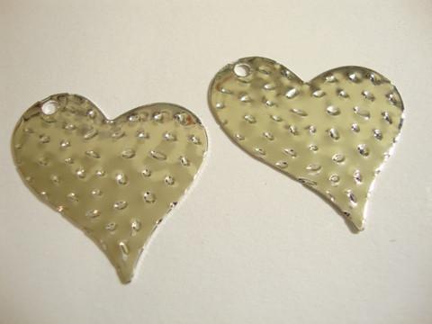 Sydänriipus hopeoitu 33 mm