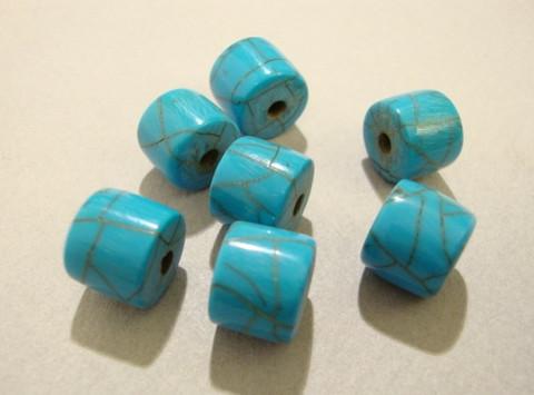 Sarvihelmi turkoosi / marmorikuvio 10 x 8 mm (6/pss)