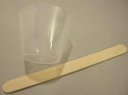 Sekoituskupit ja -tikut koruhartsille eli epoksihartsille (jewelry resin)  (5 kpl /pss)