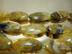 Kivihelmi Opaali keltainen-vihreä ovaali 30 x 15 mm