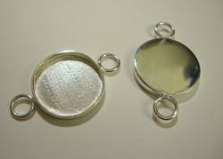 Korukehys / linkki hopeoitu pyöreä 20 mm