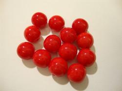 Tsekkiläinen lasihelmi opaakki punainen pyöreä 10 mm (20/pss)