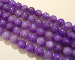 Simpukkahelmi lila/violetti pyöreä 6 mm (20/pss)
