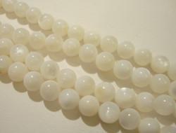 Simpukkahelmi valkoinen pyöreä 6 mm (30 kpl/pss)
