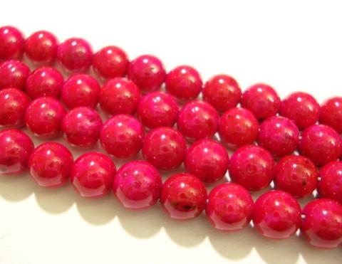 Marmori värjätty tumma pinkki pyöreä 6 mm (25/pss)
