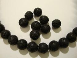 Kivihelmi Laavakivi musta pyöreä 8 mm (20 kpl/pss)