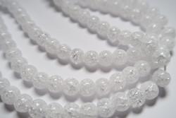 Säröakaatti kirkas/valkoinen pyöreä 8 mm (20 kpl/pss)