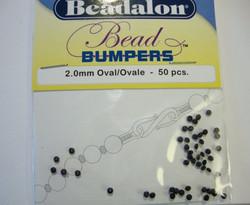 Beadalon Beadbumper (silikoni kiinnityshelmi) musta 2 mm (50/pss)
