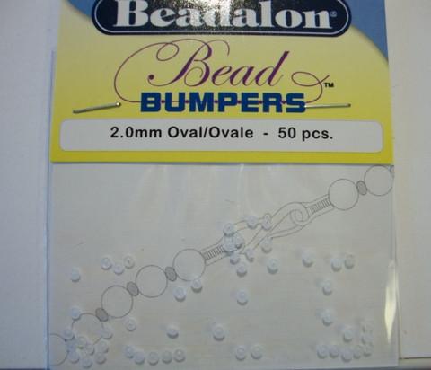 Beadalon Beadbumper (silikoni kiinnityshelmi) kirkas 2 mm (50/pss)