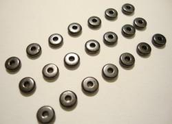 TierraCast Metallihelmi/välihelmi Heishi musta 5 mm (20 kpl/pss)