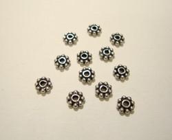 925 sterling hopeahelmi (välihelmi/rondelli) 4 mm (10 kpl/pss)
