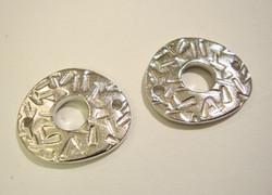 TierraCast Korulinkki Abstrakti hopeoitu 22 x 20 mm 2-reikäinen