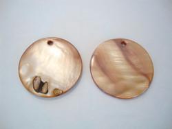 Simpukkariipus ruskea litteä pyöreä 30 mm (2 kpl/pss)