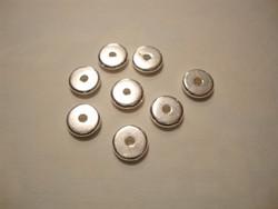TierraCast Metallihelmi/välihelmi Heishi hopeoitu 7 mm (20 kpl/pss)