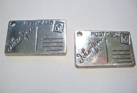 Riipus Postikortti hopeanvärinen 26 x 16 mm (2 kpl/pss)
