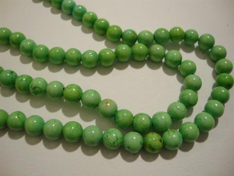 Kalkkiturkoosi limen vihreä pyöreä 6 mm (20/pss)