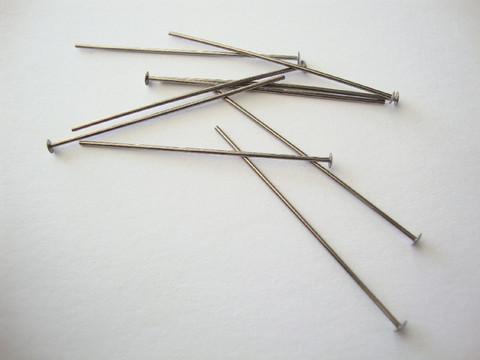 Korupiikki pitkä hopeoitu 100 x 0,7 mm, tasapää (30 kpl/pss)
