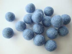 Huovutettu helmi vaaleansininen/Baby Blue n. 10 mm (5 kpl/pss)